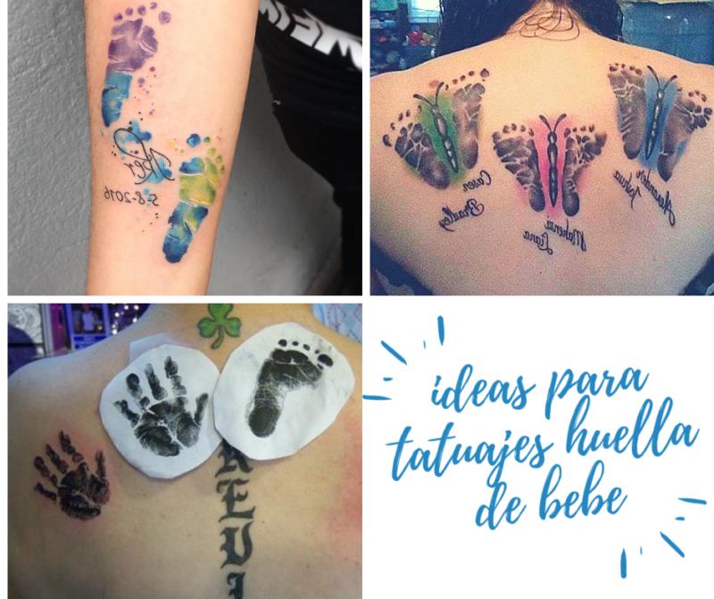 Tatuaje huellas manos bebé